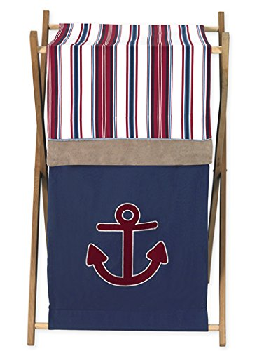 - Sweet Jojo Designs Baby/Kids Clothes Laundry Hamper for Nautical Nights Bedding Sets
