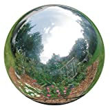 "Rome Industries 704-S Silver Stainless Steel Gazing Globe, Polished Stainless Steel, 4"" Diameter"