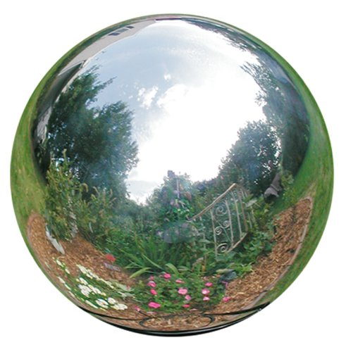 Mirror Garden Fountain - Rome 704-S Silver Stainless Steel Gazing Globe, Polished Stainless Steel, 4-Inch Diameter