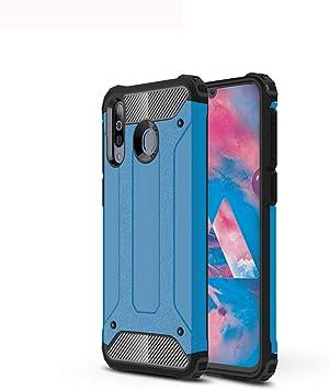 Henxunton Funda Samsung Galaxy M30, Dual Layer Armor Case PC Duro ...