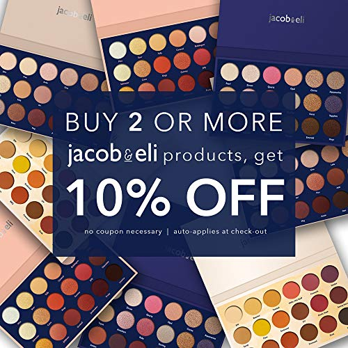 18 Super Pigmented - Top Influencer Professional Eyeshadow Palette all finishes, 5 Matte + 9 Shimmer + 4 Duochrome - Buttery Soft, Creamy Texture, Blendable, Long Lasting Stay (Bare) by Jacob & Eli (Image #3)