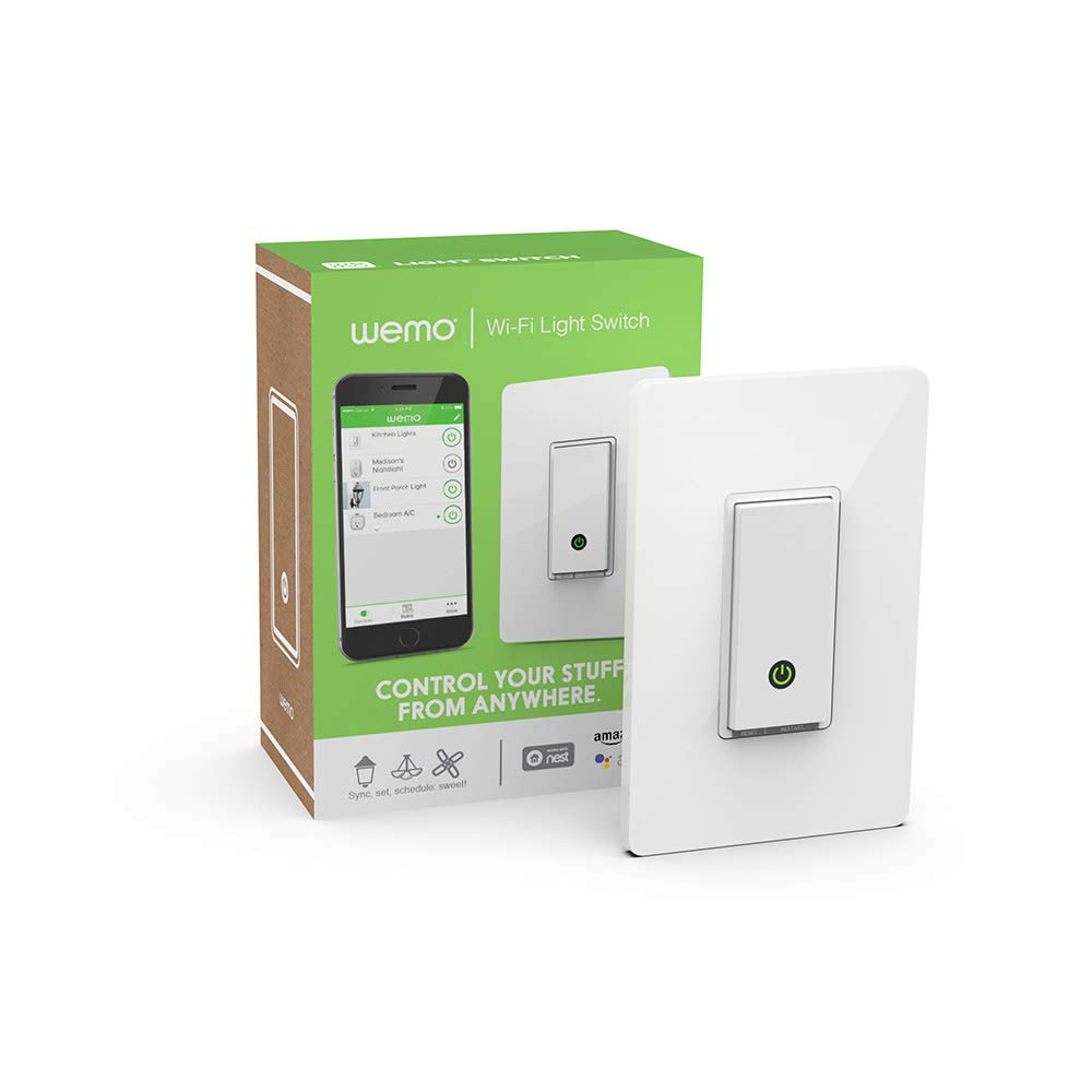 Wemo Light Switch Wi Fi Enabled Works With Alexa And
