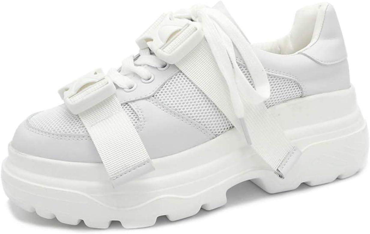 Mujeres Chunky Sneakers Primavera Verano Pisos Hebilla Caminar Low ...