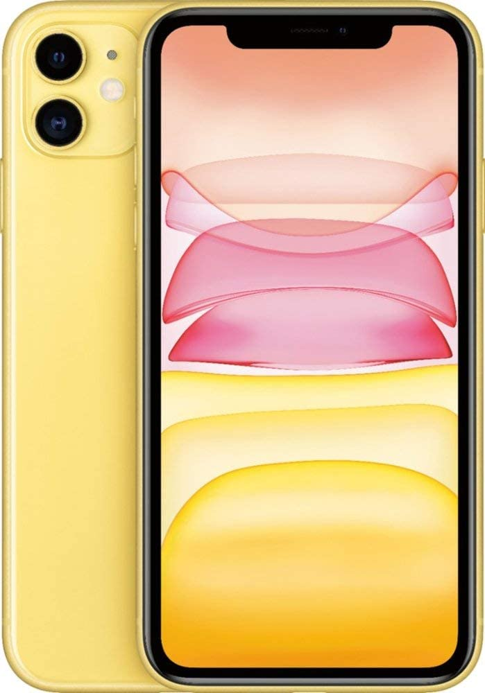 Apple iPhone 11, 64GB, Yellow - Fully Unlocked (Renewed)