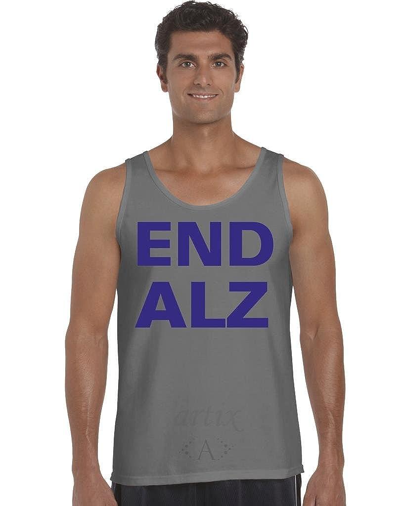 Artix A End Alzheimers Men Tank Top X-Large Charcoal
