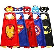 [Sponsored]Zaleny Kids Superhero Dress Up Costumes 5 Satin Capes with 5 Felt Masks