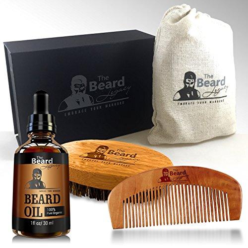 premium beard brush comb oil handmade kit made in usa beard care 100 bambo. Black Bedroom Furniture Sets. Home Design Ideas