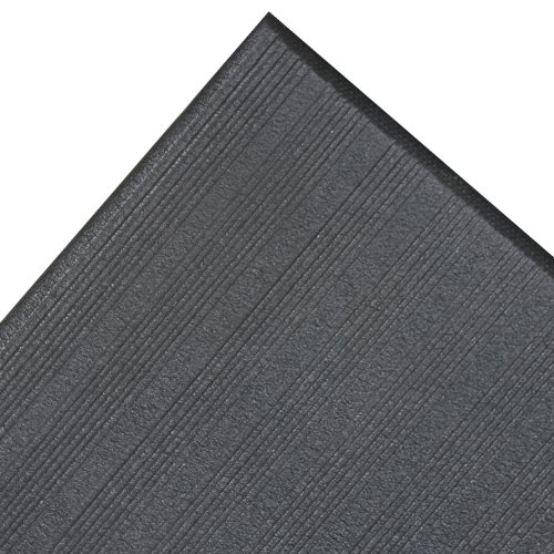 NoTrax 410 PVC Airug Safety/Anti-Fatigue Floor Mat, for Dry Areas, 2' Width x 60' Length x 3/8'' Thickness, Black by NoTrax
