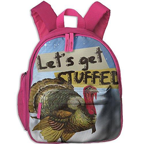 Children Happy Thansgiving Turkey Preschool Backpack School Bag -