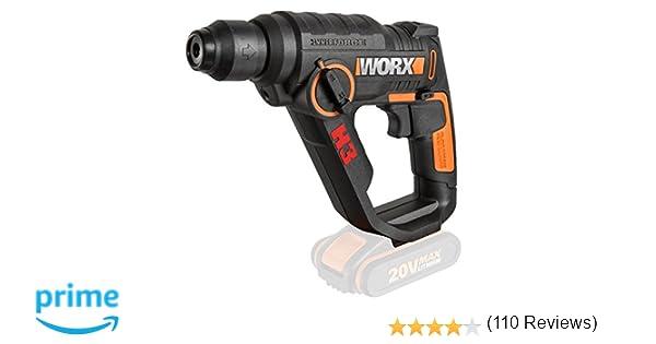 WORX WX390.9 - H3 Taladro/Atornillador/Martillo a batería 20V S/bat