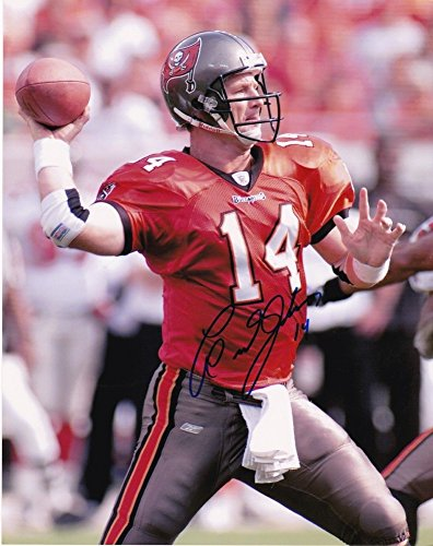 Brad Johnson Tampa Bay Buccaneers Action Signed Autographed 8x10 - Certified Certified