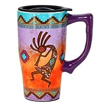 Spoontiques Kokopelli Travel Mug, Multi Colored