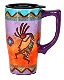 Spoontiques Kokopelli Travel Mug, Multi Colored