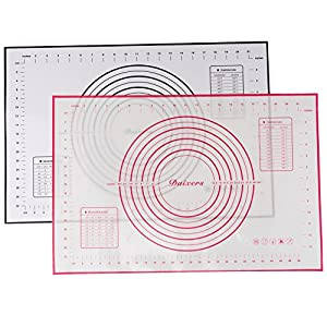 """Daixers Large 23.62"""" x 15.74"""" Silicone Baking Mats Set of 2,Non Stick Non Skid Pastry Mat with Measurements For Rolling Dough"""