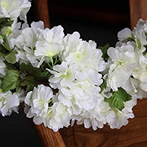 Only Angel Artificial Rose Flower Wholesale Flowers Vine Garland Hanging Christmas Decor Flowers Wedding Home Garden Outdoor Decoration-2 Pack Cream 3