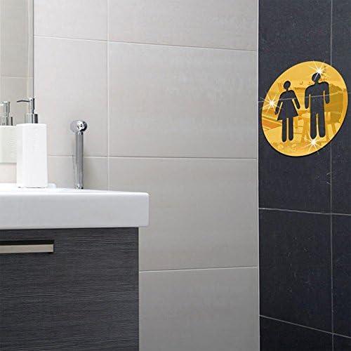 Dos Adhesif Miroir Mural Decoratif De Salle De Bain Panneau De Porte Acrylique Diy 3d Comptoir Autocollant Pour Homme Et Pour Femme Hotel Bar Restaurant Universel Plaque De Salle De Bain Autocollant