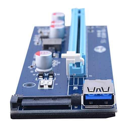 20PACK Sopolar USB3.0 PCI-E PCI Express 1X to 16X Riser Card Adapter with 15pin SATA Power Slot Connector by Sipolar (Image #8)