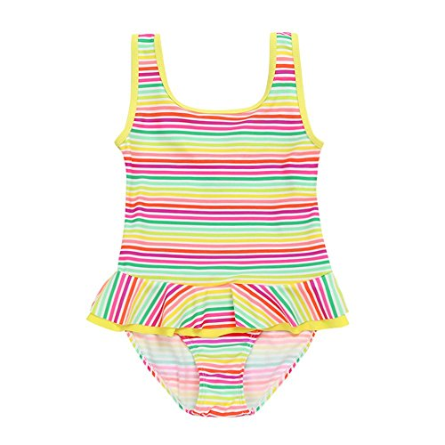 Sleeveless Check Carino Ruffles Stampa Suit Swimsuit Piece 18 anni 5 Vest Kid Swimwear The Summer One Beach Retro mesi Girl Flower Lace Sea Amlaiworld wvq8ZXw
