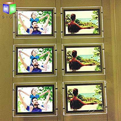 3pcs A3 a Row, Vertically A3 Portrait Office Store Led Acrylic Poster Frame Light Box Sign Advertising Display