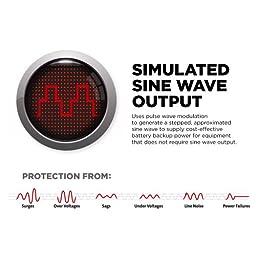 CyberPower EC850LCD Ecologic 850VA/510-Watts Energy Efficient Desktop LCD UPS