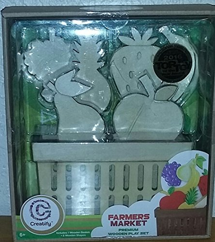 Farmers Market Fruit Set (Farmers Market Premium Wooden Play Set)