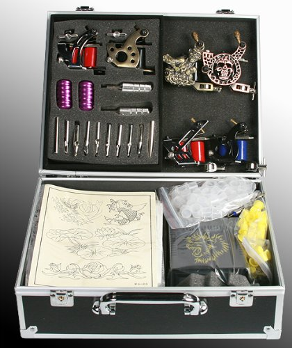 eyepower 6 Gun Tattoo Machine Kit Tattoo Gun Kit By JRFOTO S-T06 Tattoo Kit