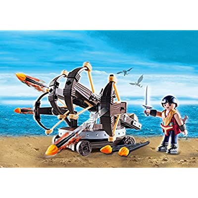 PLAYMOBIL How to Train Your Dragon Eret with 4 Shot Fire Ballista: Playmobil: Toys & Games