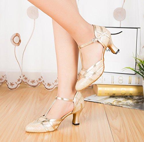 Gold femme de 7cm Salle Heel bal Miyoopark 0qxTA4I