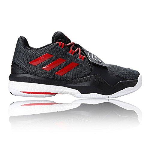 adidas D Rose Englewood Boost, Scarpe da Basket Uomo Nero (Negro (Grpudg / Rojray / Negbas))