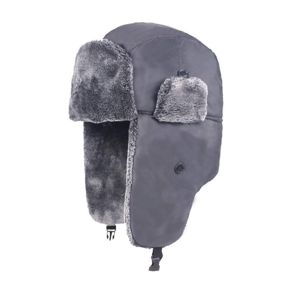 iHENGH Men Women Plus Velvet Thick Earmuffs Windproof Waterproof Warm Snow Caps iHENGH clothing 01