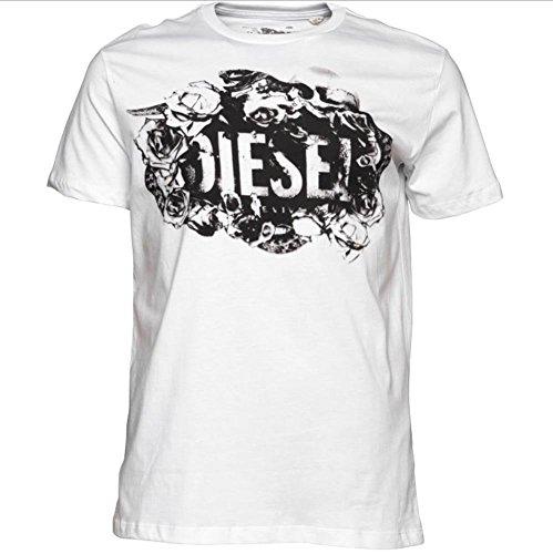 Diesel Herren T-Shirt ROSES Weiß