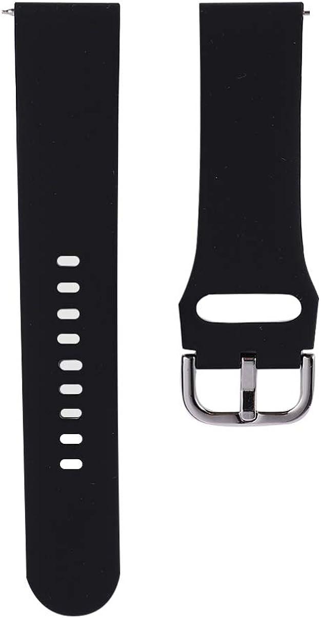 NICERIO Compatible para Samsung Galaxy Watch Bandas Activas Pulseras de Repuesto de Silicona Correa para Smartwatch Compatible para Galaxy Watch Active 2-20Mm