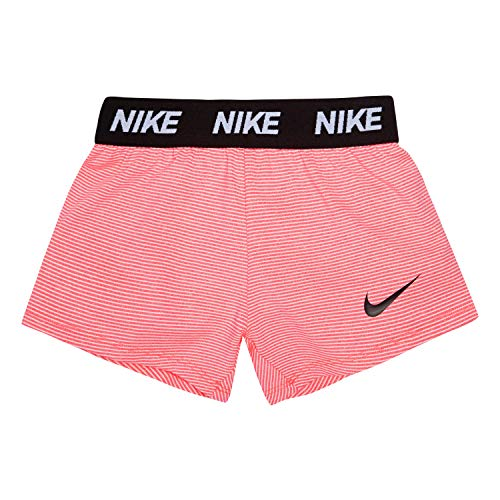 NIKE Children's Apparel Girls' Little Dri-FIT Trophy Shorts, Racer Pink Stripe Heather, 6