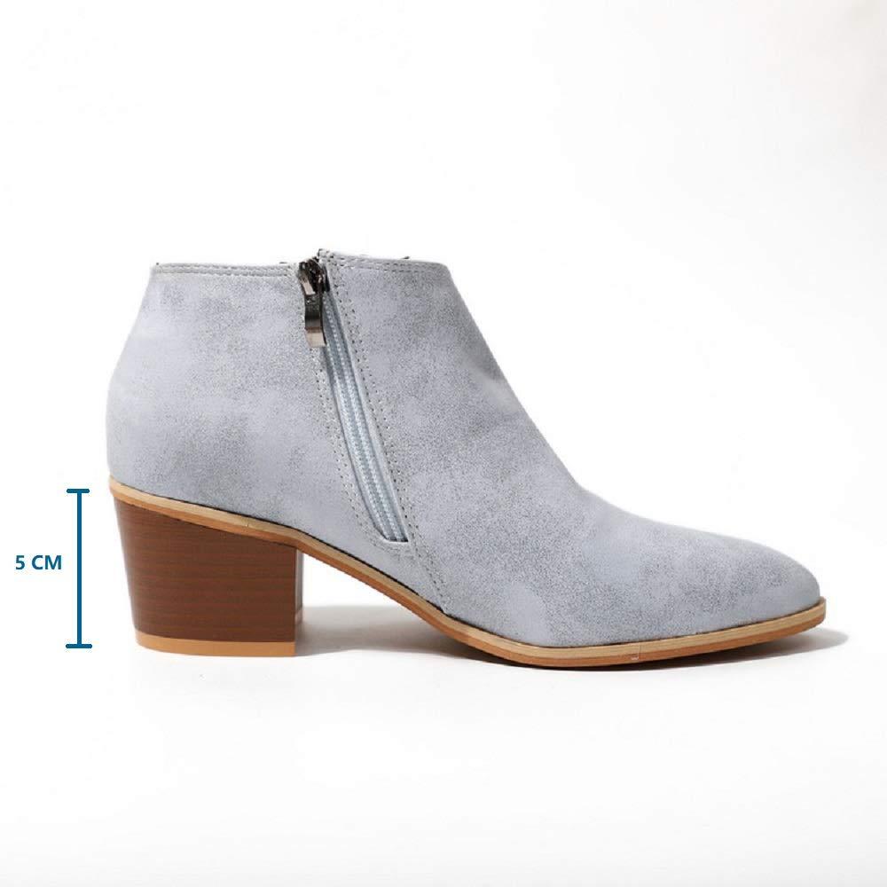 5219a4b708c9 Hafiot Chelsea Boots Stiefeletten Damen Kurzschaft Leder mit Absatz Kurze  Reissverschluss Bequem Stiefel Winter 5cm Schuhe ...