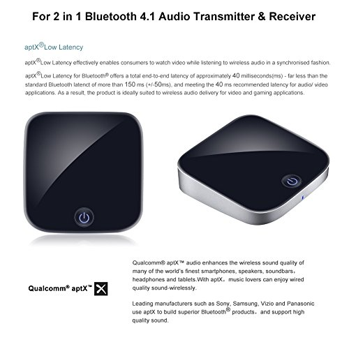 Giveet 2-in-1 Bluetooth Transmitter Receiver Digital Optical Toslink and 3.5mm Wireless Audio Adapter for TV Home Car Stereo System, Bluetooth 4.1, A2DP, aptX LL(2 Devices Simultaneously) by Giveet (Image #8)