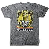 Transformers Hasbro Mens Throwback Shirt - Optimus Prime, Megatron, Bumblebee - Throwback Classic T-Shirt (Graphite Heather, Medium)