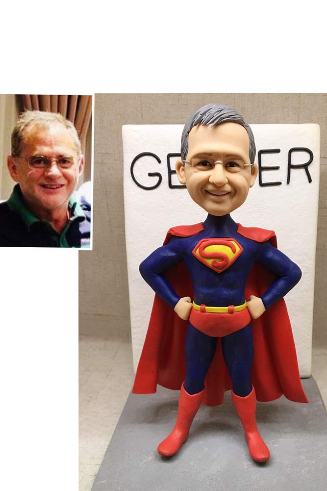 Fully Custom Superman Bobblehead Figurine Personalized Gifts Valentines Day Gift Business Gift Father Gift Boyfriend Gift Friends Gifts Based on Your Photos for New Year,DHL Expedited Shipping
