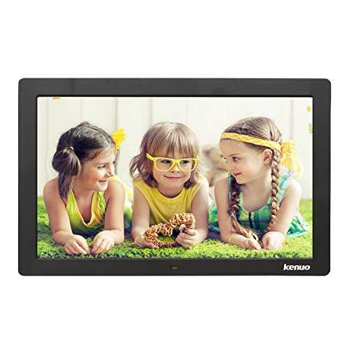 - Kenuo 15 inch Digital Photo Frame,Advertising Media Player 16:9 Digital Picture Frame with High Resolution LED Screen & Remote Control and Auto On/Off Timer Black