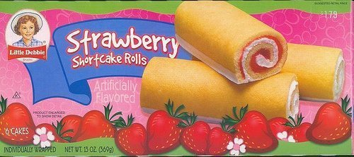 Strawberry Shortcake Rolls - Little Debbie Snacks Strawberry Shortcake Rolls, 6-Count Box (CASE of 16 Boxes) by Little Debbie