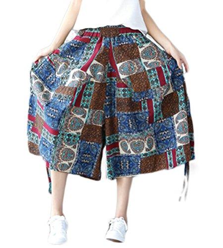 Soojun Womens Cotton Palazzo Trouseres
