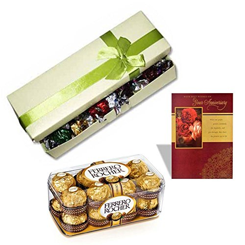 sfu e com surprise chocolate box with anniversary card 16 pieces