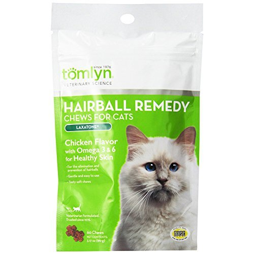 Tomlyn Hairball Remedy 120 Chews for Cats, 3.17-ounce [2-pack]