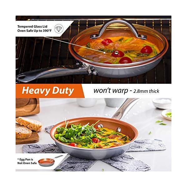 Home Hero Copper Pots and Pans Set - 13pc Copper Cookware Set Copper Pan Set Ceramic Cookware Set Ceramic Pots and Pans… 6