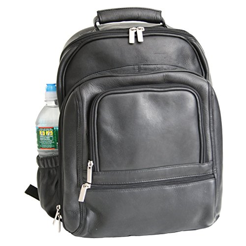 Royce Leather Executive 15'' Laptop Backpack Bag Handcrafted In Colombian Genuine Leather Laptop Backpack, Black by Royce Leather