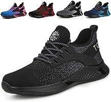 AONETIGER Chaussure de Securité Homme Femmes Légères S3 Embout Acier Basket Securite Chaussures de Sécurité Travail...