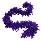 Cynthia's Feathers 65g Chandelle Feather Boas Over 80 Colors & Patterns to Pick Up (Regal Purple)
