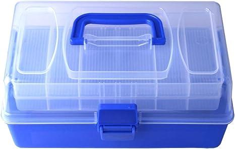 NDCJKAD V;DVA Accesorios de la pesca de plástico caja de almacenamiento de artes de pesca