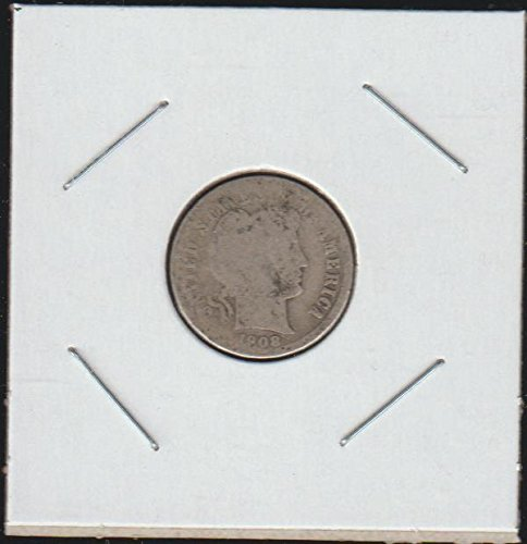 1908 D Barber or Liberty Head (1892-1916) Dime Good