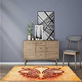 Stain Resistant Grungy Lily Retro Renaissance Spirit Element Victory Holy Artwork Rug for Kitchens W24 x L35.5 INCH