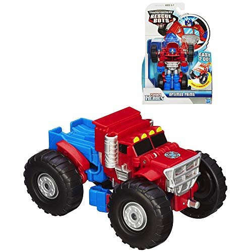 - Transformers Rescue Bots Optimus Prime Monster Truck 4.5